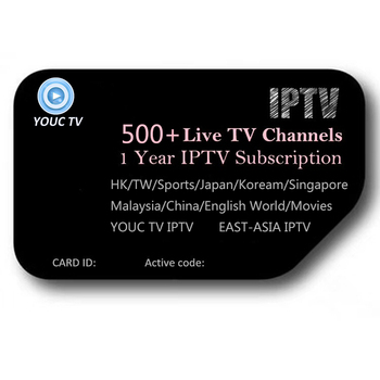 Hot Sales Youc 12 Months HK, Japan, Korea, MY, SG, Sport, IPTV Subscription 12 Months IPTV Subscription
