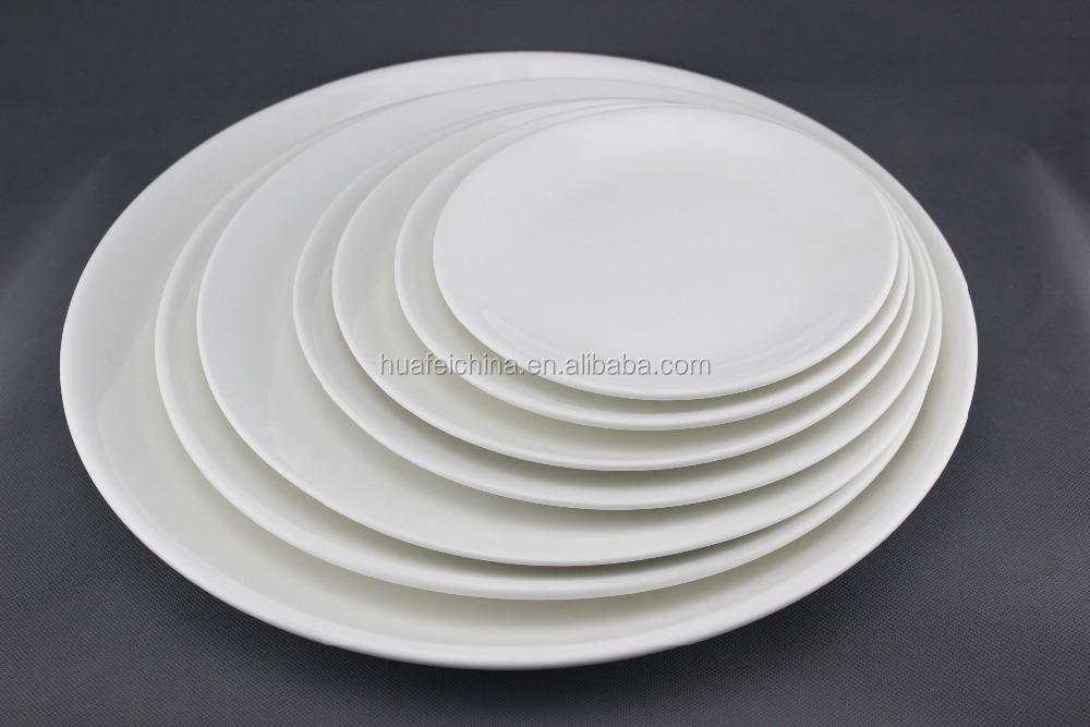 Wholesale Good Quality Restaurant Dinner Plate White Hotel Porcelain Plates
