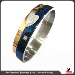 2016 hottest love stainless steel bangle for couple