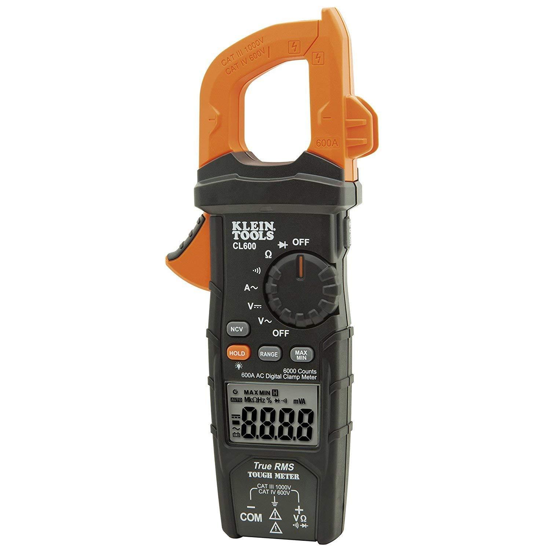 BESTChoiceForYou Digital Clamp Meter - AC/DC Auto-Ranging - 600A, 1-Digital Clamp Meter AC Auto-Ranging 600A (Orange/Black), Digital Ac Dc Auto Ranging Clamp 600a Meter Multimeter Voltage