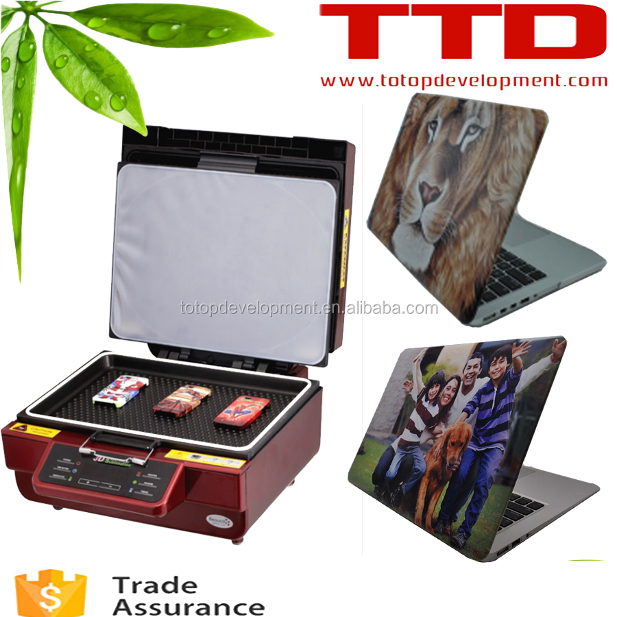 3D Sublimation Vacuum Low price cell phone case printing machine ,for mac book hard cover case printing HOT IN USA