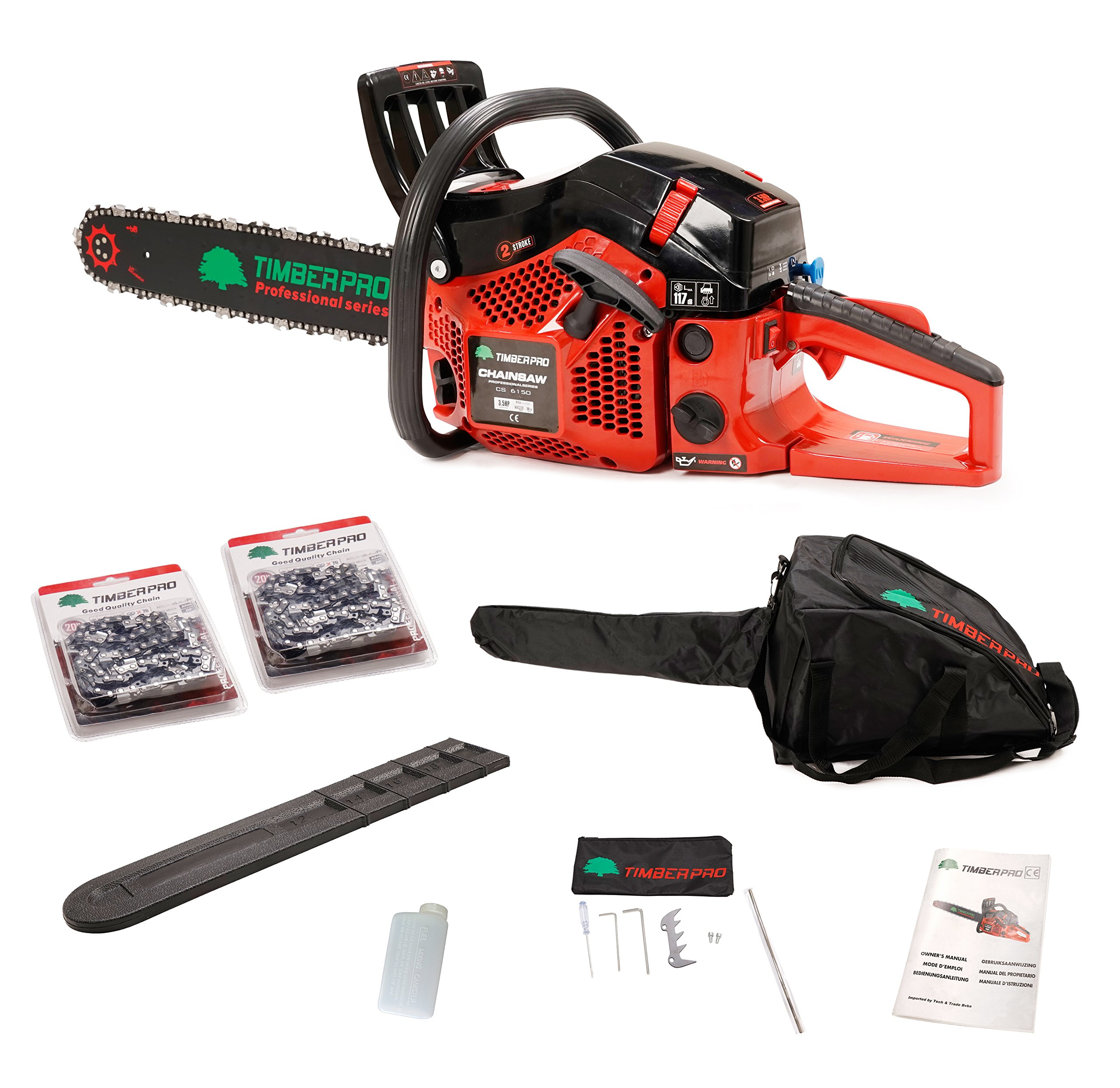 Cheap 62cc Gas Chain Saw 6200 Find Deals On 52cc Scooterx Power Kart Go Get Quotations Timberpro Professional Series Powered Chainsaw Kit With 2x Chains Carry Case