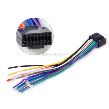 car radio stereo wire harness cd plug cable 16 pin connector fit for rh alibaba com sony 16 pin wiring harness diagram 16 pin wiring harness walmart