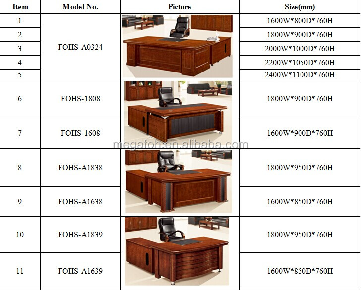 Simple Working Table Executive Office Desk With Side For Or Home Fohk