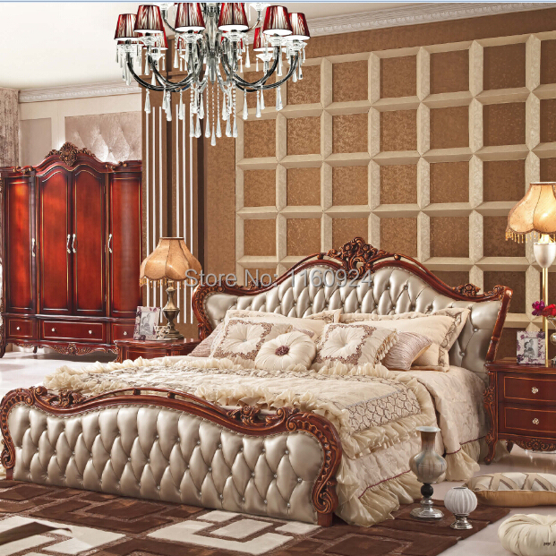 Luxury And Classic Oak Furniture Bedroom Suite : 1 Bed,1