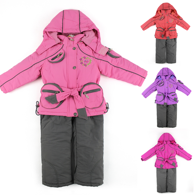98361ef02 Buy Russian Winter Children Clothing Sets Windproof Girls Ski Jacket ...