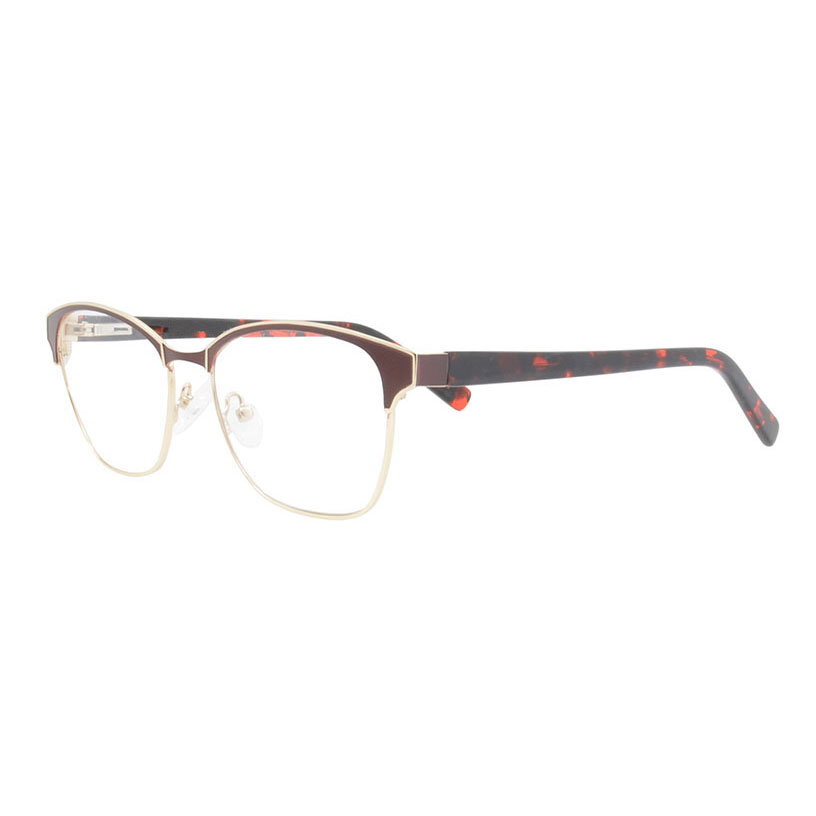 Promocional negro delgada de metal gafas marco óptico para niños ...