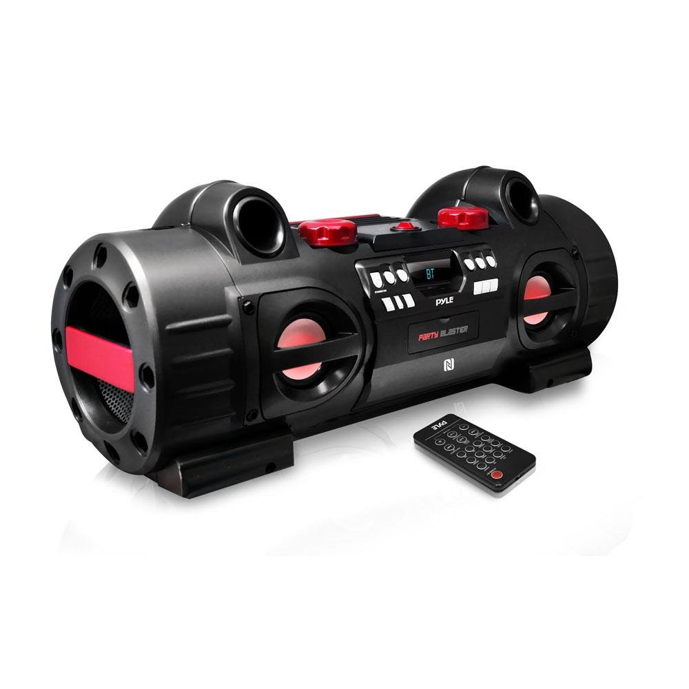 Pyle PBMSPG80 Party Blaster Boom Box, Bluetooth & NFC Wireless Streaming for Universal Devices
