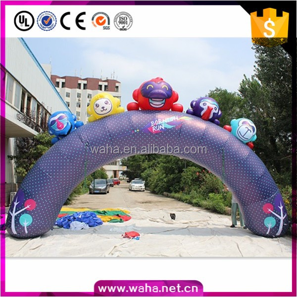 outdoor customized inflatable cartoon monkey arch for sale