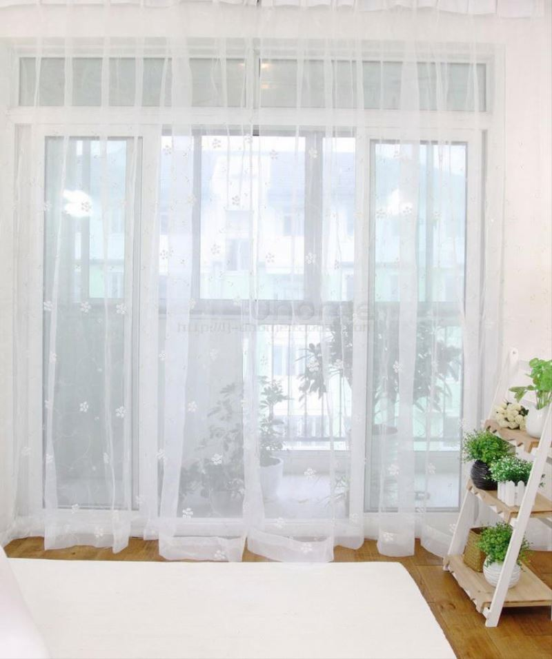 Moderna tende bianca camera da letto all 39 ingrosso acquista online i migliori lotti di moderna - Tende in pizzo per camera da letto ...