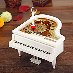 Get Quotations Mechanical Classical Piano Music Box Dancing Ballerina White