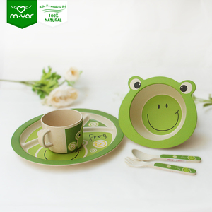 french biodegradable baby porcelain bamboo fiber children's tableware