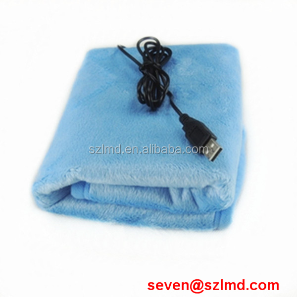2014 new gadget battery heated body warmer bed blanket