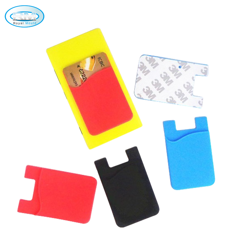 Wholesale silicone smart mobile phone wallet pocket card holder фото