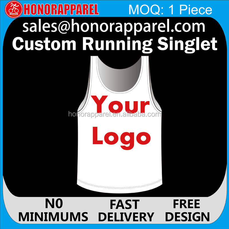 Wholesale custom polyester bodybuilding gym wear men/running singlet/stringer tank top OEM service Running Vest
