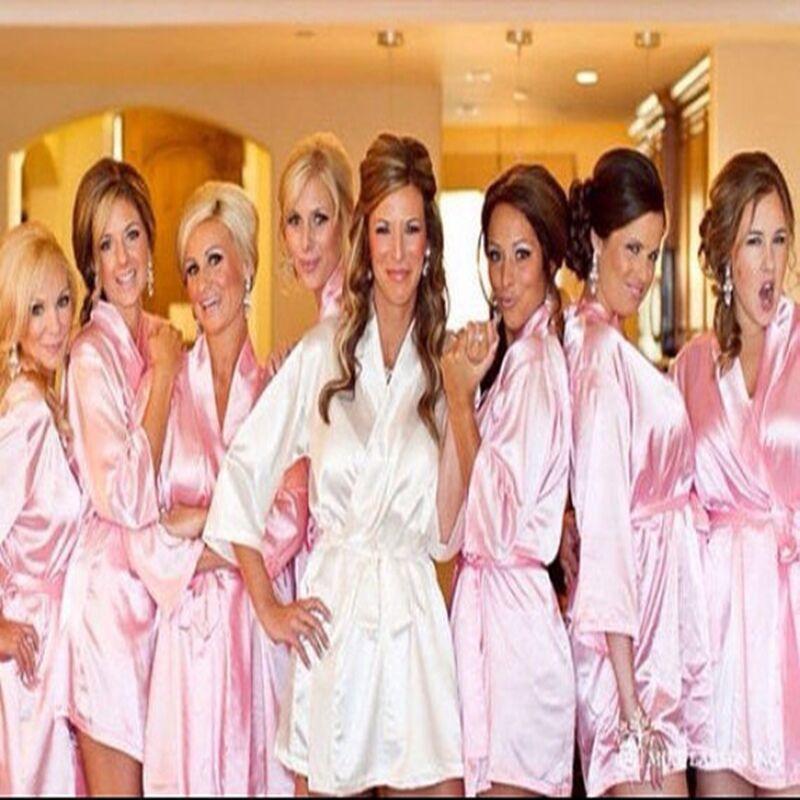 9e02dc2478 2019 Wholesale White Bridal Dressing Gown  Kimono Bathrobes