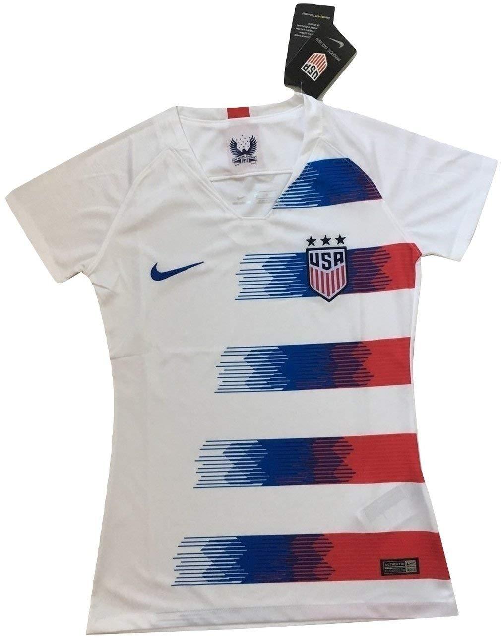 bb38516a6 Get Quotations · Mallnkakova Women s USA National Team 2018-2019 Home Soccer  Jersey White