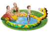 Inflatable swimming animal play center pool with sprayer and water slide