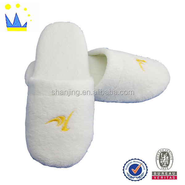 high quality cotton warm disposable hotel slippers eva outsole slippers