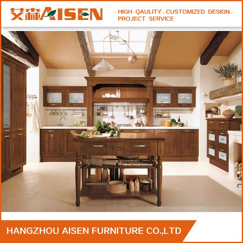 Top Quality Great Durablity House Wooden Kitchen Cabinet Feom China