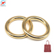 Custom Metal Round Gold Decorative Handbag Hardware O Ring Loop Buckle Metal Bags O Ring