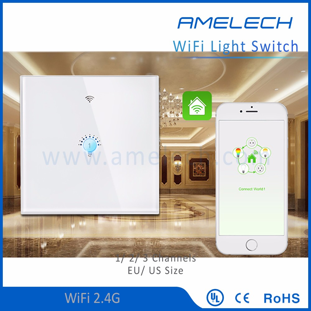with touch screen 1 gang 2 gang 3 gang 110v 220v ac wifi smart switch