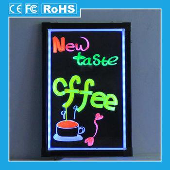 Led Advertising Luminous Acrylic Notice Menu Board