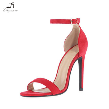 962d98e4ada 2018 Women Sexy Strappy Heeled Sandals Buckled Ankle Strap Dress Sandals  Stilettos for Wedding Party Evening