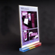 T shaped plexiglass sign display stand vertical slide A4 clear acrylic desk magnetic menu card holder acryl display hotel