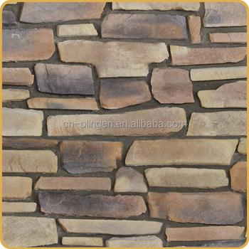 Pared Exterior Y El Interior Arcilla Fachada De Piedra Para La Decoración  Del Hogar