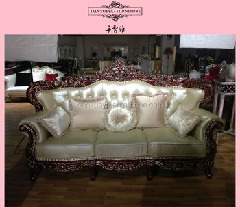 Turkish Soft Line Carving Leather Sofa