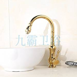 Furesnts Modern home kitchen and bathroom faucet High foot basin Faucets gold dish Faucets kitchen sink basin Faucets European antique gold basin Faucets,(Standard G 1/2 universal hose ports)