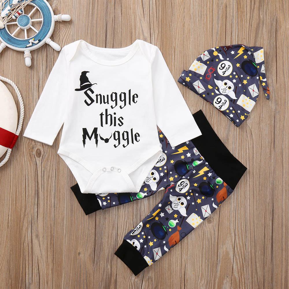 ee11b374f 2019 Fashion Newborn Infant Baby Boy Girl Letter Print Romper Tops ...