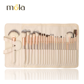 PU pouch good price professional makeup brush sets 24pcs cosmetic brush kit free sample