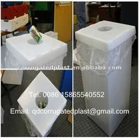 Corrugated Plastic Recycle Boxes For Collecting Bottles/Cans