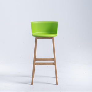 pp plastic modern bar stool bar high chair stool wooden bar stool