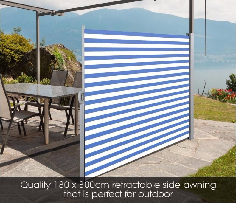 Retractable Awning Side Shade Patio Terrace Privacy Screen ...