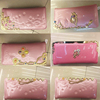 PU Pink card hold lady beautiful wallet