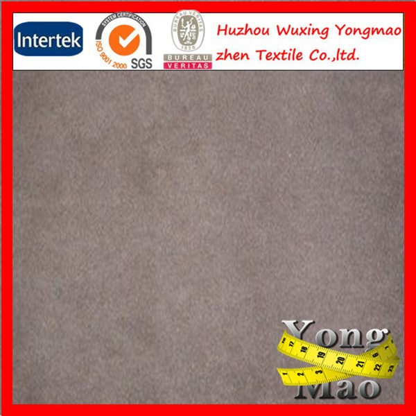 Hot sale plain polyester short pile faux fur fabric/suede fabric