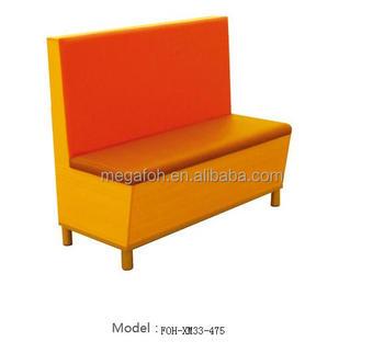 new design orange seating restaurant bench booth furniture