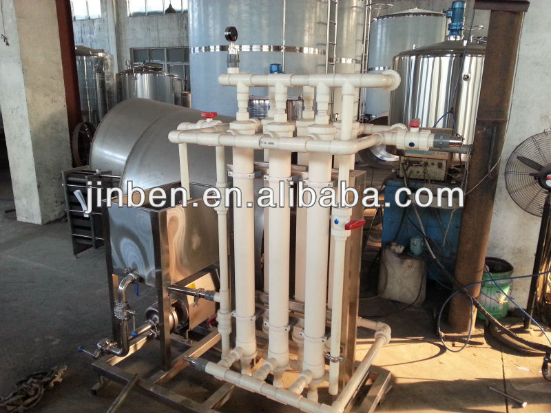 Mineral water hollow fiber filtration system
