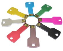 2018 OEM Metal Colourful Key Shape USB 2.0 3.0 Flash Pen Drive 1GB/2GB/4GB/8GB/16GB