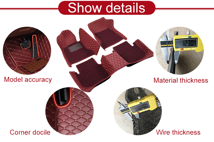 Wholesale Custom Full Set Cleaning Hand Sewing Car Carpets