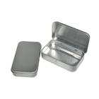 Metal tin packaging box for food storage/candy/mint/coffee with hinged lid