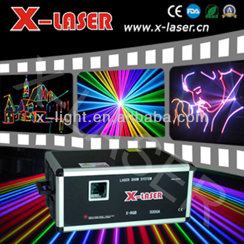 High power laser 15W Animation analog modulation laser light display/led laser light