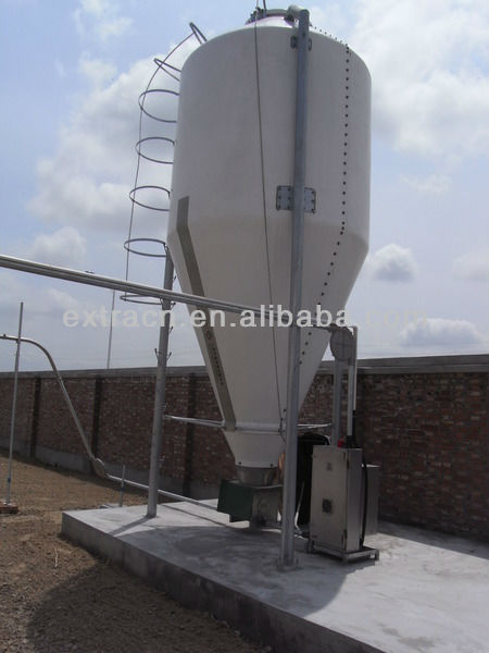Fiberglass grain storage silo of pig equipment