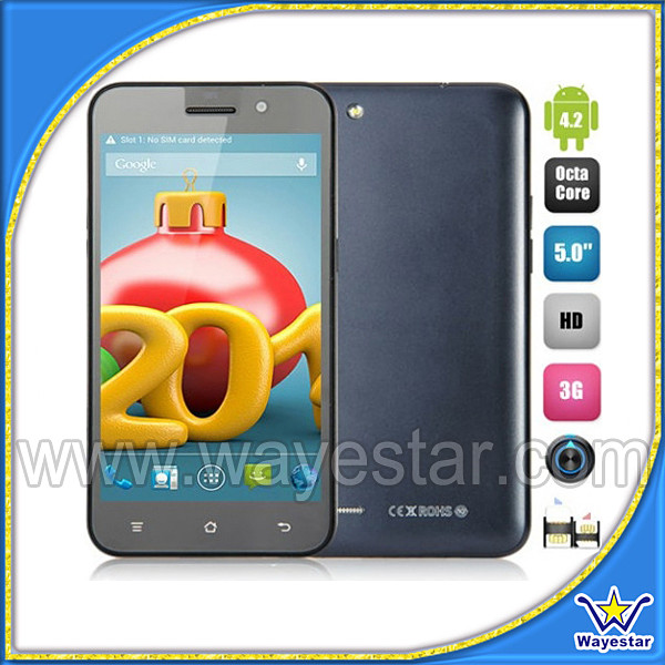 MTK6592 octa Core celular 5 ''HD 1280*720 2 Cámara 13.0MP