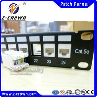 RJ45 Connector 1u cat5e 24 port patch panel and OEM our brand