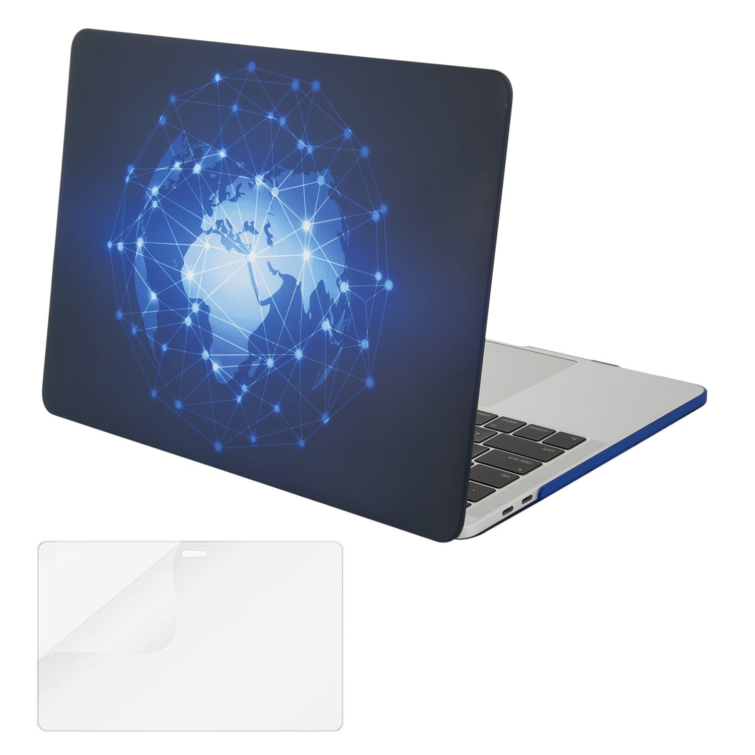 Mosiso Plastic Hard Case with Screen Protector for Newest Macbook Pro 13 Inch with Retina Display No CD-ROM (A1706/A1708, Oct 2016), Constellation