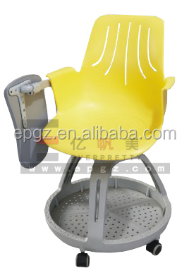 Hot Plastic Armchairs School node Chair with Casters of School Furniture Table and Chair